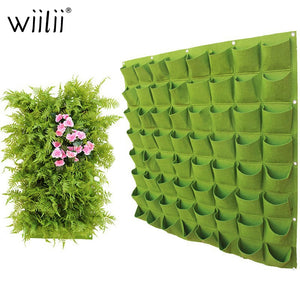 Wall Hanging Planting Grow Bags with Pockets Green Bag