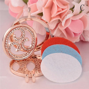 1pcs Aroma Diffuser Necklace with 3 pads Vintage Locket Pendants Aromatherapy