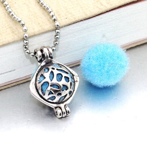 1PCS Owl Aromatherapy Diffuser Necklace Pendant Choker Essential Oil Perfume Locket Necklace With Pads Women