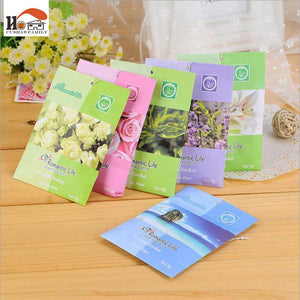 5pcs/lot Natural Scented Fragrance Bag Home Wardrobe Drawer sachets dehumidified air purification Car Perfume