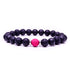 8mm Natural Black Stone Oil Perfume Bracelet