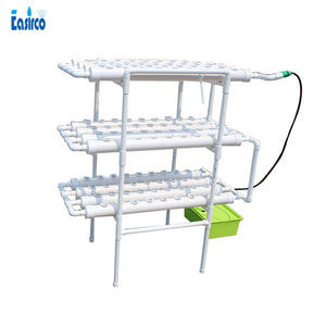 Hydroponics system  with 108pcs of net cup. Home hydroponics  system. Nutrient Film Technique (NFT)