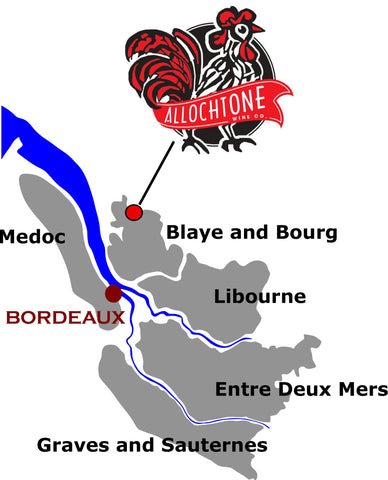 Allocthone location near Bordeaux in the Southwest of France