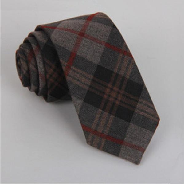 Checked winter tie