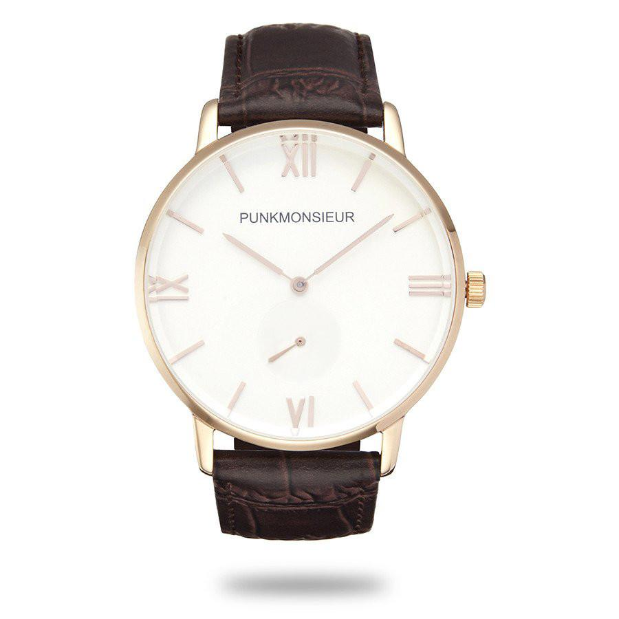 Classic Gold Brown Leather Watch