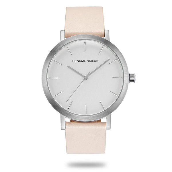 Peach Silver Watch - Punk Monsieur