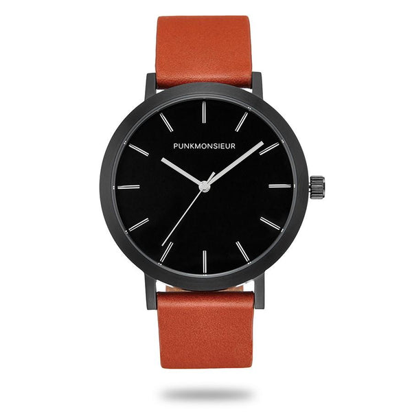 Brown and Black Matte Watch - Punk Monsieur