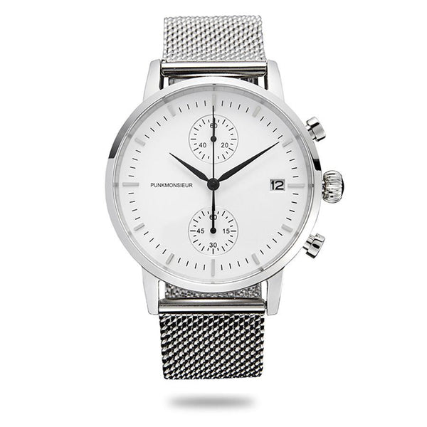 White and silver chrono