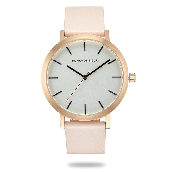 Pink Rose Gold Watch - Punk Monsieur