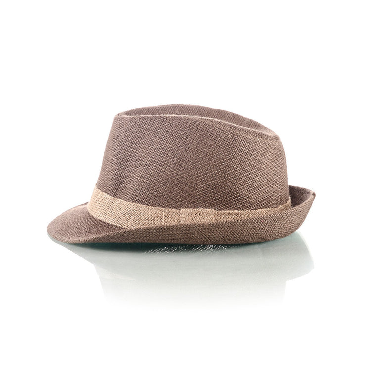 Men's Coffee Straw Hat - Punk Monsieur