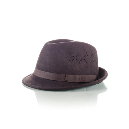 Men's Brown Trilby Hat - Punk Monsieur