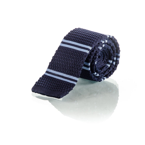 Sky Blue Stripe Tie - Punk Monsieur