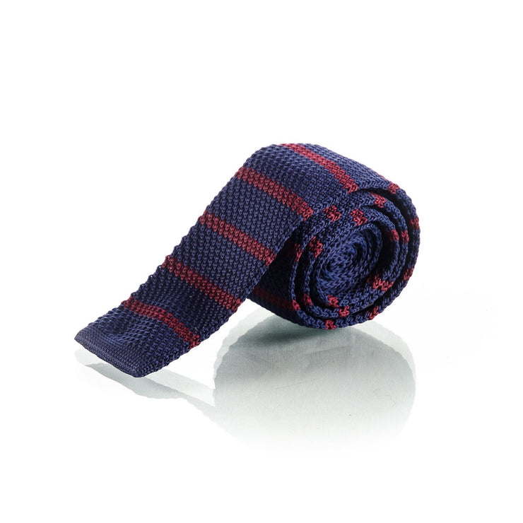 Red & Blue Knit Tie - Punk Monsieur