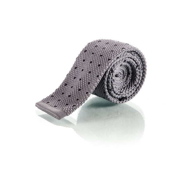 Grey Knit Tie - Punk Monsieur