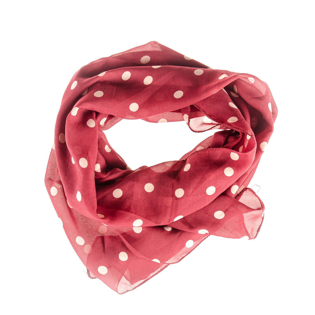 Men's Red Polka Dot Scarf - Punk Monsieur