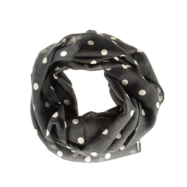 Men s Black Polka Dot Scarf