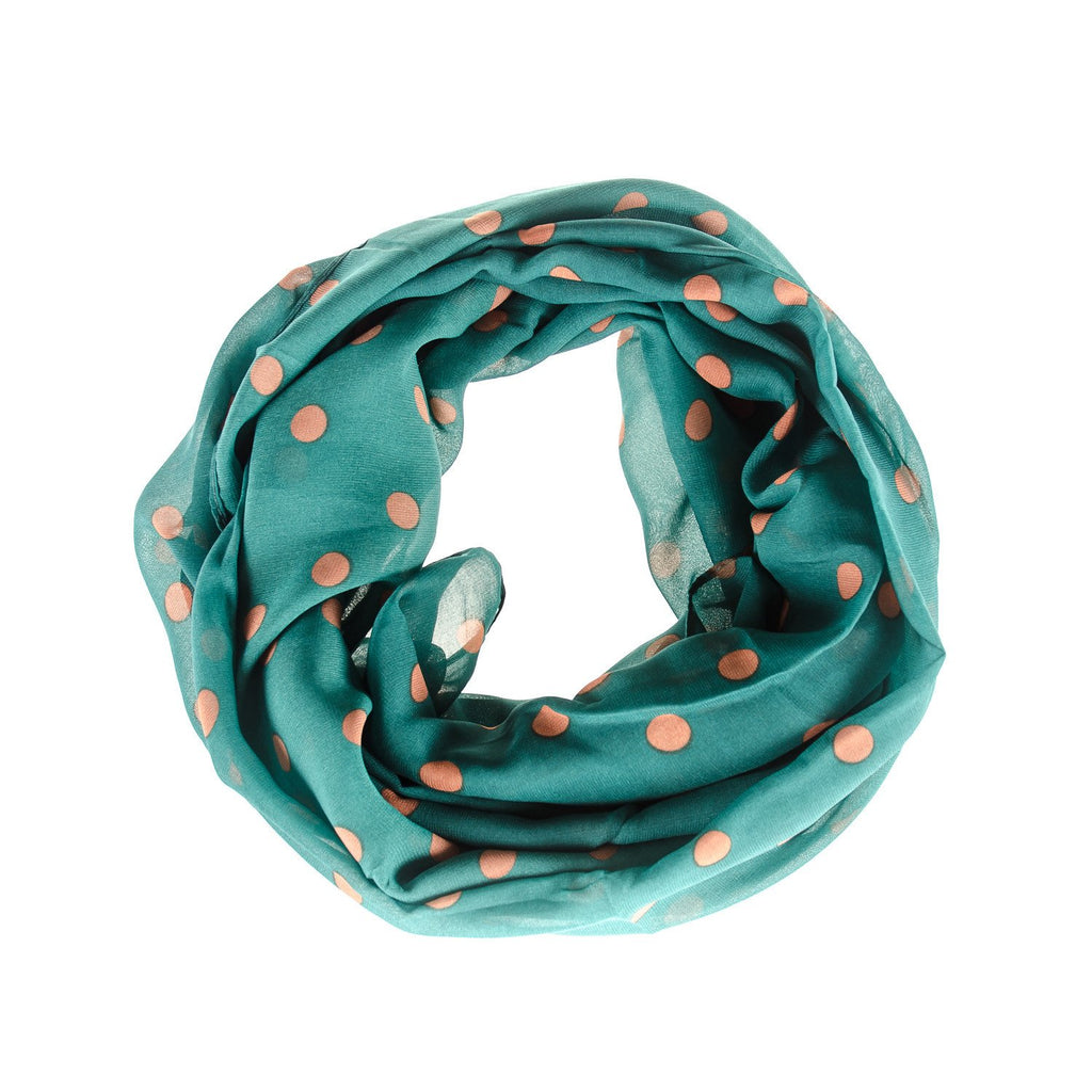Men's Green Polka Dot Scarf - Punk Monsieur