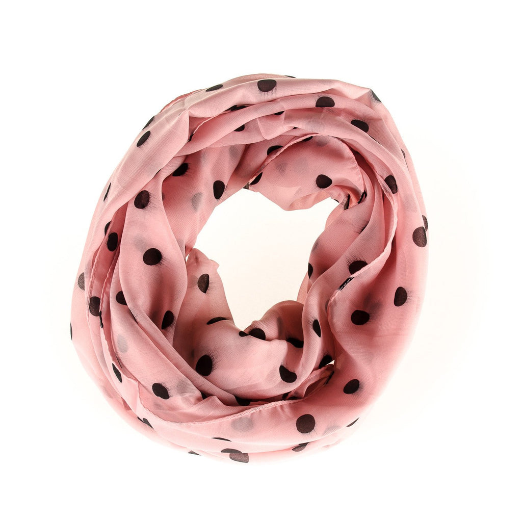 Men's Pink Polka Dot Scarf - Punk Monsieur