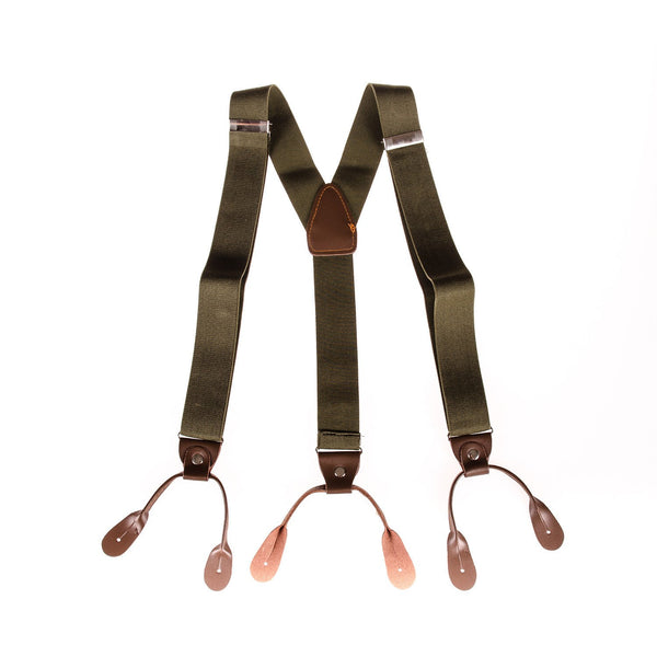 Men's Braces Military Green - Punk Monsieur