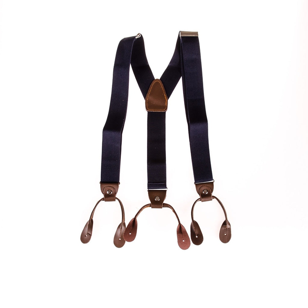 Men's Braces Navy - Punk Monsieur