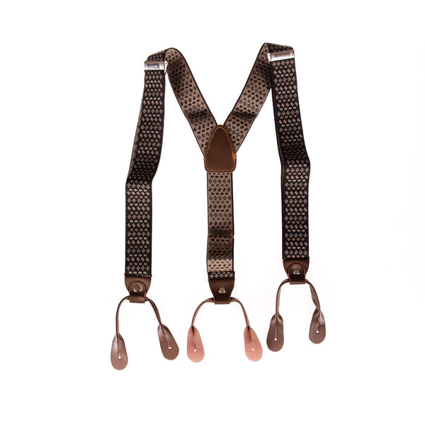 Men's Braces Vintage Brown - Punk Monsieur