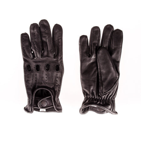 Men's Black Leather Gloves - Punk Monsieur