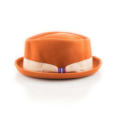 Orange Pork Pie hat - Punk Monsieur
