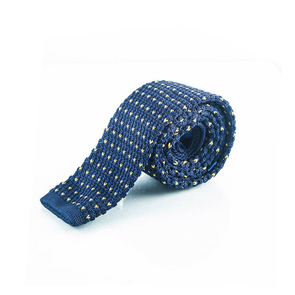 Blue Knit tie - Punk Monsieur
