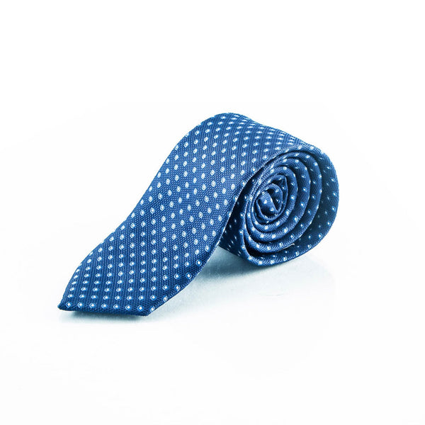 Blue Pois Tie - Punk Monsieur