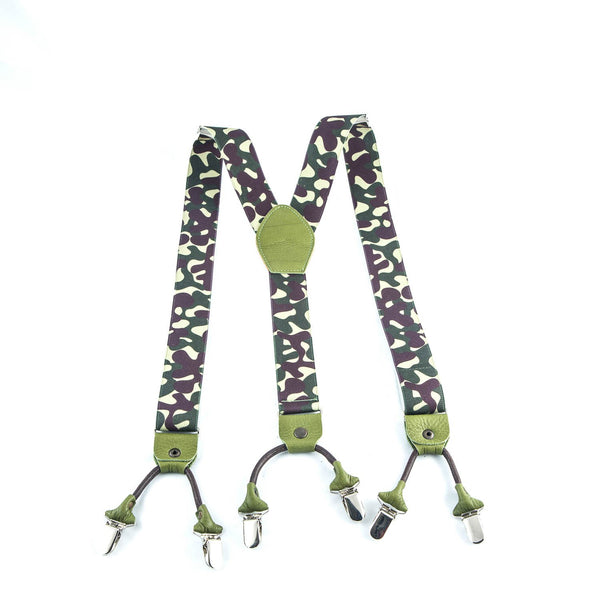 Camo Suspenders - Punk Monsieur