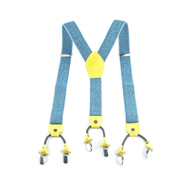 Denim Suspenders - Punk Monsieur