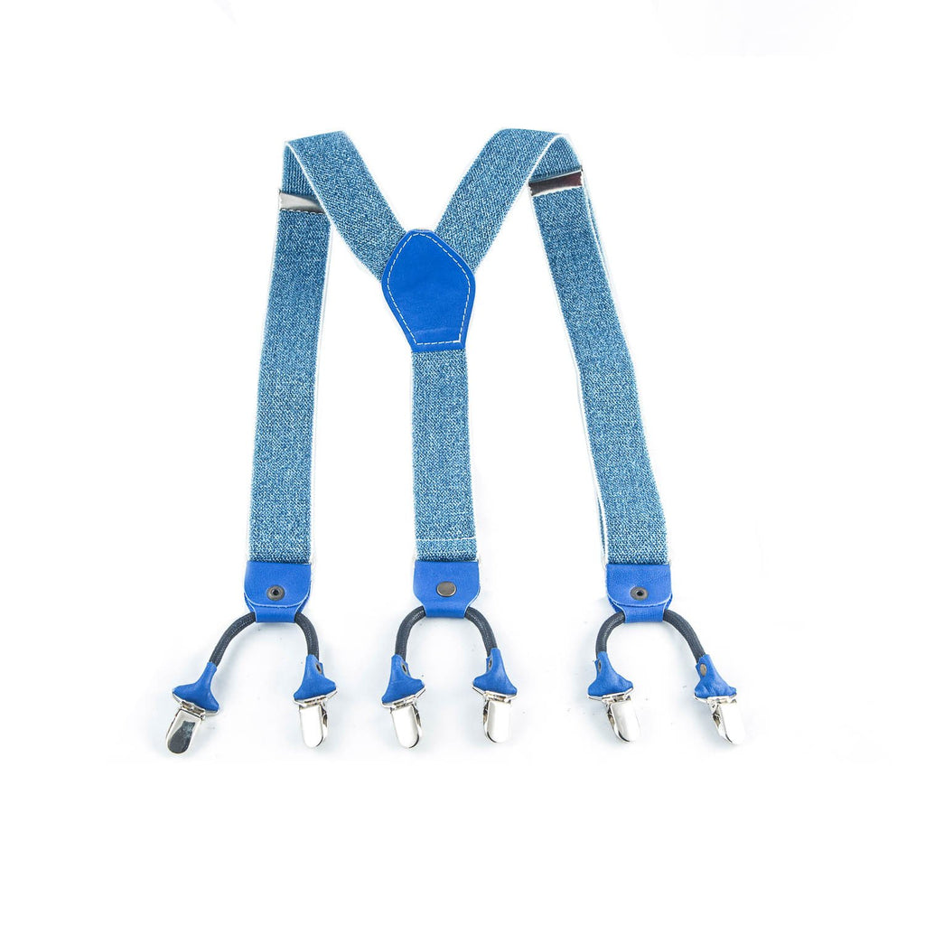 Y-Style Blue Denim Suspenders - Punk Monsieur