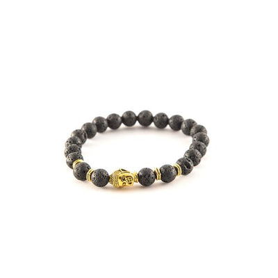 Black Matte Beaded Bracelet - Punk Monsieur