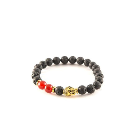 Red and Gold bead bracelets - Punk Monsieur
