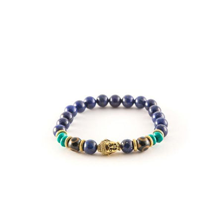 Blue and Gold bracelets - Punk Monsieur