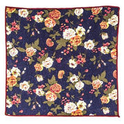 Blue floral pocket square - Punk Monsieur