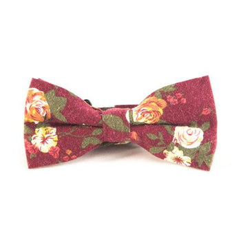 Red Floral Bow Ties - Punk Monsieur