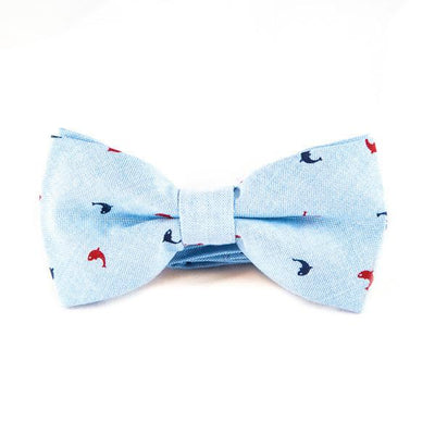 Sky Blue Preppy Bow Ties - Punk Monsieur