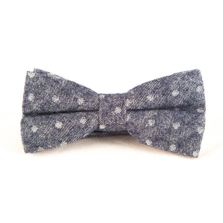 Dirty Blue Cotton Bow Ties - Punk Monsieur