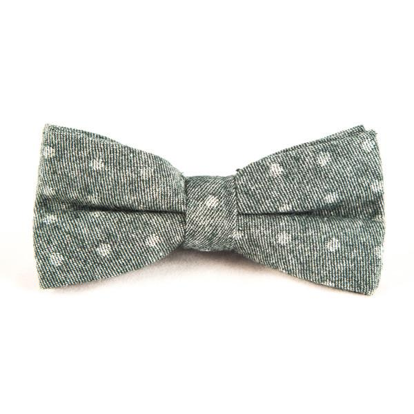 Green Cotton Polka Dots Bow Ties - Punk Monsieur