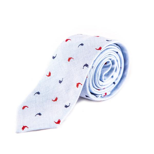 Sky Blue Cotton Tie - Punk Monsieur