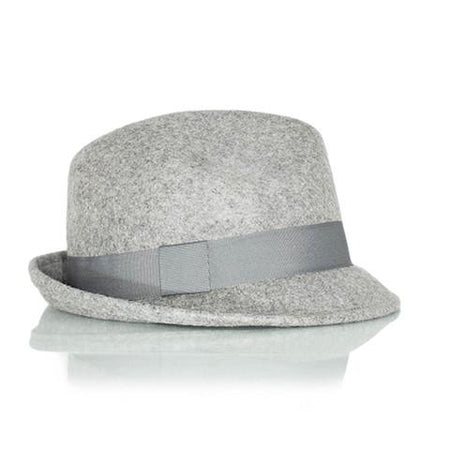 Men's Silver Wool Fedora Hat - Punk Monsieur