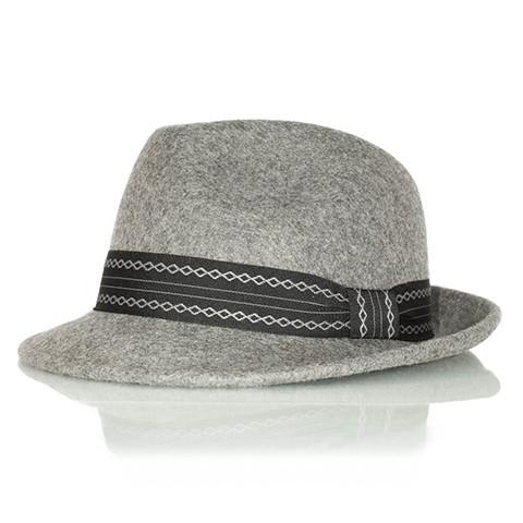 Grey Wool Felt Fedora Hat - Punk Monsieur