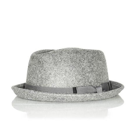Grey trilby hat - Punk Monsieur