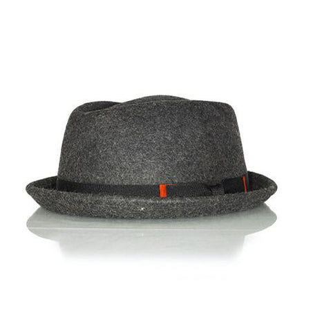 Dark Grey pork pie hat - Punk Monsieur