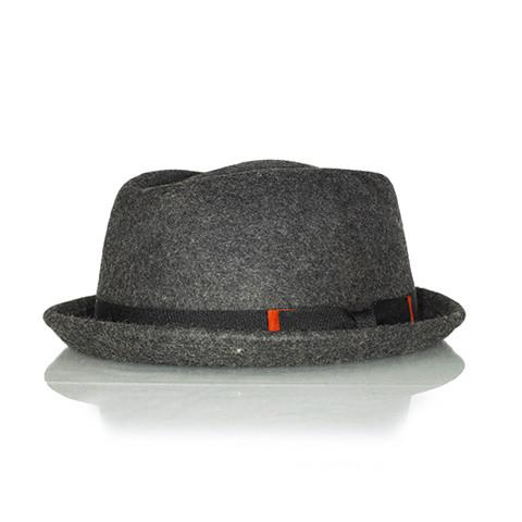 75d7052842923 Dark Grey pork pie hat - Punk Monsieur