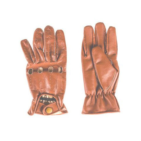 Men's Brown Leather Gloves - Punk Monsieur