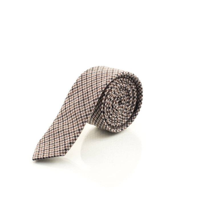brown herringbone tie - Punk Monsieur