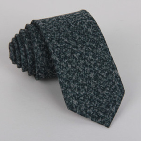 Dirty green wool tie