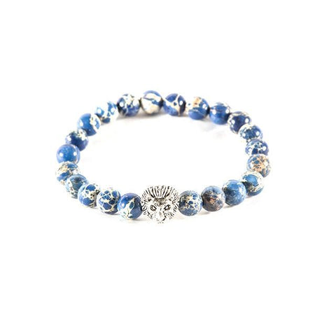 Beaded light blue bracelet - Punk Monsieur